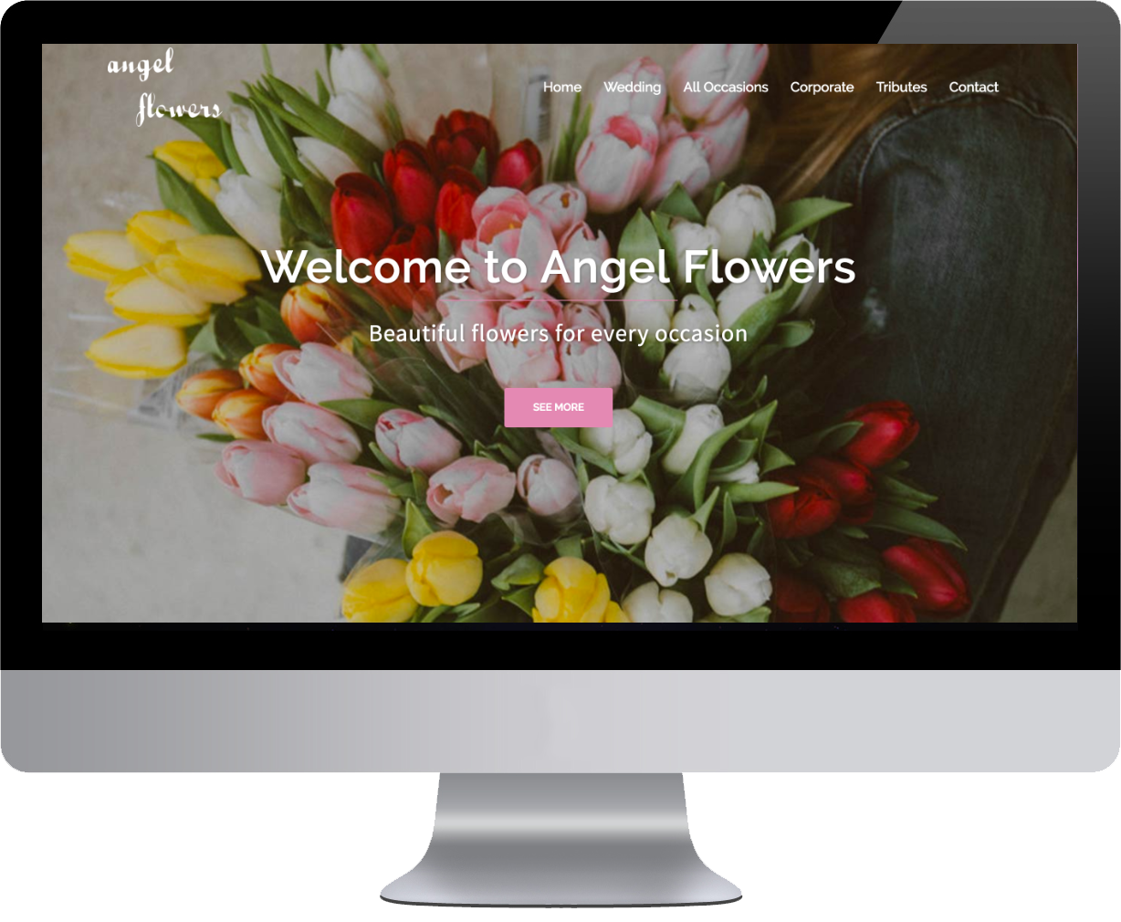angel flowers website design by clare web design gillian kelly