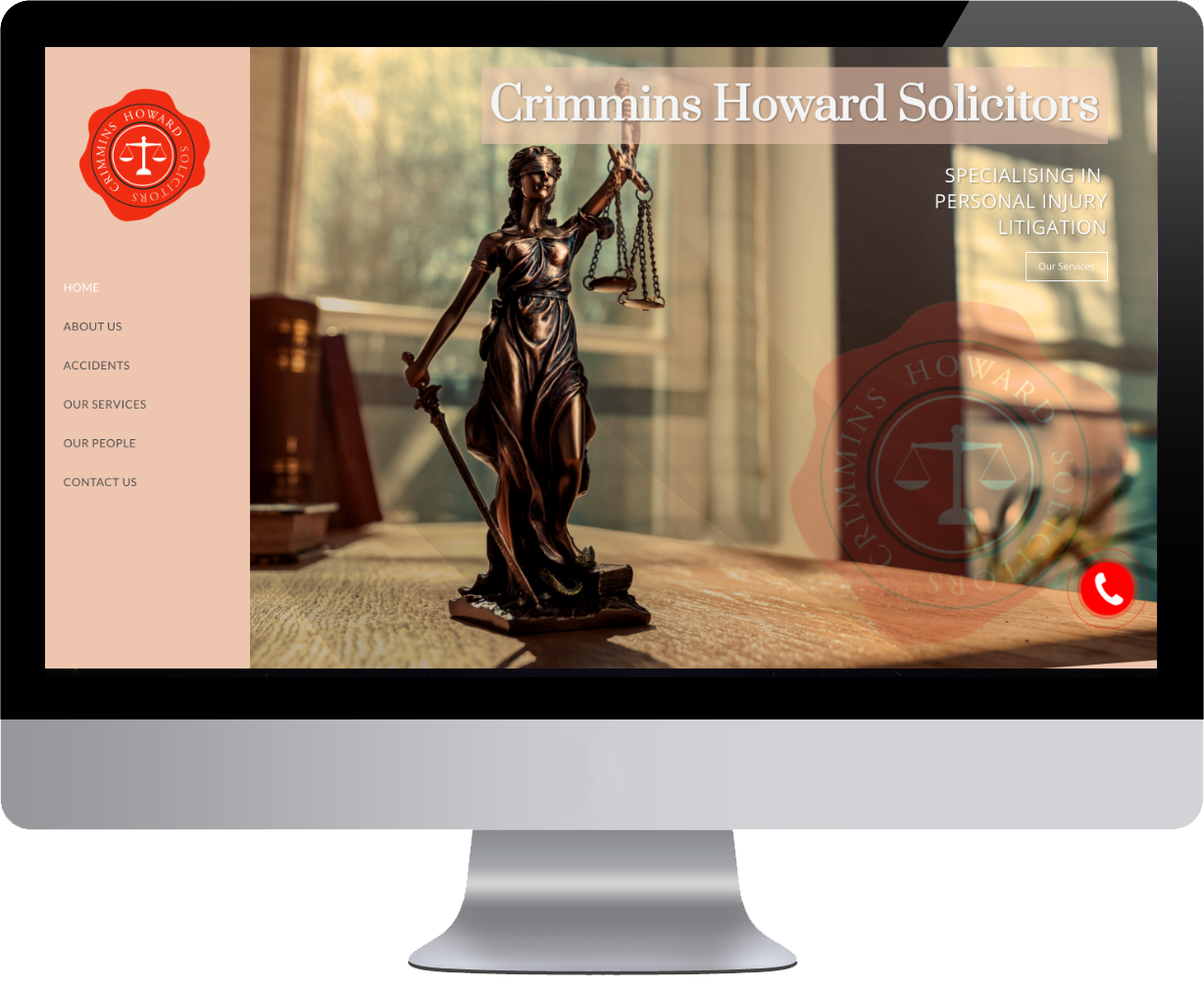 crimmins howard solicitor website by clare web design